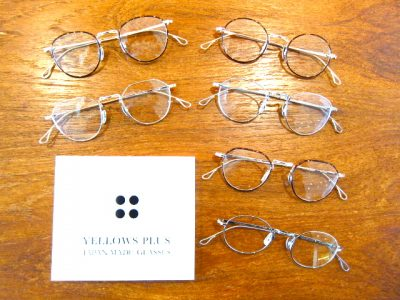 金属素材チタンの丸メガネ3型 YELLOWS PLUS(イエローズプラス)