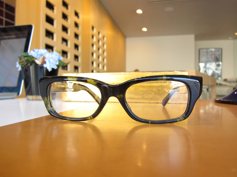 OLIVER GOLDSMITH MUST カラー : green tortoiseshell ¥30,000+税
