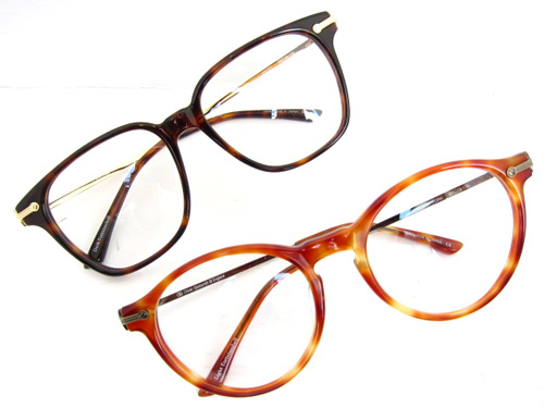 (上)ASCOT:darktortoiseshell [36,000円+税] / (下)YORK:light tortoiseshell [36,000円+税]
